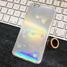 SLIME HOLOGRAPHIC KAWAII SILVER GRUNGE IPHONE 6 SOFT CASE - UK SELLER