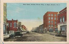 Main Street Showing Murray Building at Right in Streator IL Postcard 1948