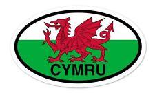"""Wales Cymru Flag Oval car window bumper sticker decal 5"""" x 3"""""""