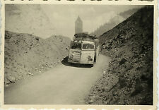 PHOTO ANCIENNE - VINTAGE SNAPSHOT - AUTOCAR AUTOBUS CAR EXCURSION MONTAGNE