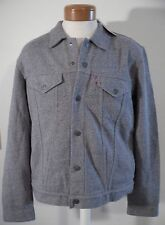 NWT Levis Mens French Terry Trucker Jacket XL Heather Grey 160970000 MSRP$88