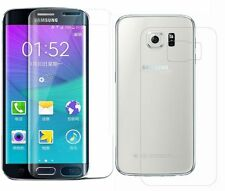 Front+Back SAMSUNG GALAXY S7 EDGE FULL CURVED 3D TEMPERED GLASS SCREEN PROTECTOR