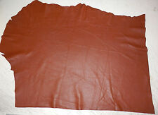 "Soft BROWN Deer Hide Leather Remnants Scraps 17""x22"" avg .6mm thick #387"
