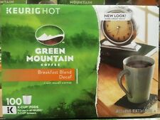 Green Mountain Coffee Breakfast Blend Decaf Light Roast Keurig K-Cups 100 Count