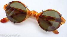 Inkognito Sonnenbrille unisex Kunststoff rund Hornoptik braun Neu Polarisierend