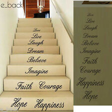 Love Live Hope Laugh Wall Stickers Quote Decal Removable Stair Home Decor Vinyl