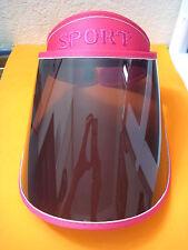 SUN VISOR PINK For Full FACE & HEAD SHIELD MASK Solar Shade UV Protectant HAT !!