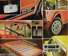 1976 Volkswagen VW RABBIT Brochure / Catalog with Color Chart