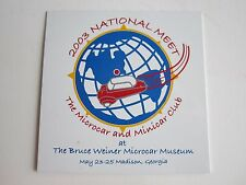 "2003 MICRO CAR & MINI CAR NATIONAL MEET BADGE EMBLEM - METAL -  3"" L - TUB TK"
