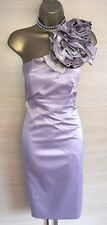 Exquisite Karen Millen Rose Champagne Exaggerated Corsage Wiggle Dress Uk10