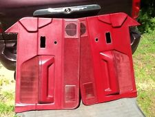 1987-1996 DODGE DAKOTA  Driver Passenger Door Panel Set Panels RED S1011