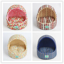 New Design Pet Dog Cat Tent Bed Small Animals Striped/Flowers Warm Kennel House