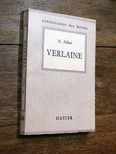 Antoine Adam VERLAINE Éd. Hatier 1953