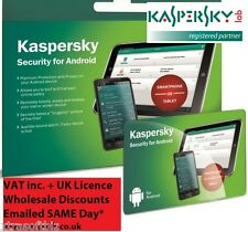Kaspersky Internet Security ANDROID 2016 Phone & Tablet  NEW SAME DAY UK licence