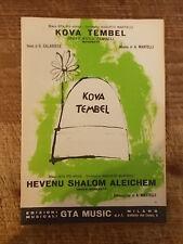 """SPARTITO """"KOVA TEMBEL"""" + """"HEVENU SHALOM ALEICHEM"""""""