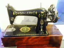 Antique Singer 66k Sewing Machine, Hand Crank, Working, Manual, Accessories