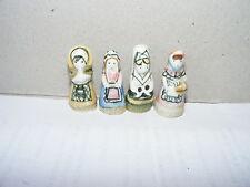 # 4 Nostalgie Porzellan-Figuren-Trachten-Frankreich-Puppenhaus-Puppenstube-1:12