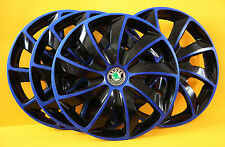 "SKODA Fabia ,Etc...4x14""  ALLOY LOOK CAR WHEEL TRIMS/COVERS HUB CAPS ,Set of 4"