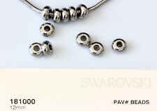 Genuine SWAROVSKI 81000 BeCharmed Bracelet Pave Stopper 12mm Stainless Steel