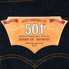Levis 501 Jeans New Size 34 x 30 INDIGO ( Dark Blue ) Mens Button Fly #572
