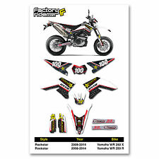 2008-2014 YAMAHA WR 250 X & R Rockstar Graphics Kit Motocross Graphics Enjoy