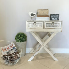 White Timber Bedside Table/Side Table/Stand/Hampton's/French Country/Coastal