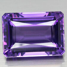 8x6mm OCTAGON-FACET LIGHT-PURPLE NATURAL BRAZILIAN AMETHYST GEMSTONE