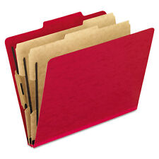 """Pendaflex Six-Section Colored Classification Folders, Letter, Scarlet, 10/box"""