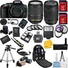 Nikon D5300 DSLR Camera + 18-140mm VR + 70-300mm G + 32GB + VALUE BUNDLE KIT