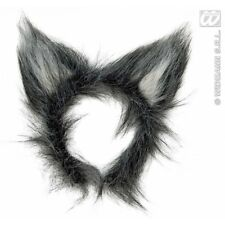Grey fluffy scruffy wolf ears animal fancydress costume accessory Halloween