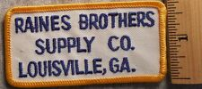 RAINES BROTHERS SUPPLY COMPANY LOUISVILLE GEORGIA PATCH (LUMBER, HARDWARE)