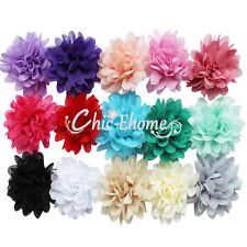 15 Fancy Lot Chiffon flower clip for Corsage headband hair bow Crafts baby girl