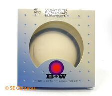 B & W B+W 67MM UV HAZE CAMERA LENS FILTER NEW OLD STOCK