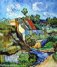 Handmade Van Gogh Oil Painting repro Houses at Auvers