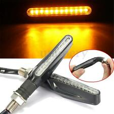 2x Bendable Stem Universal Motorcycle LED Turn Signal Indicator Light Lamp Amber