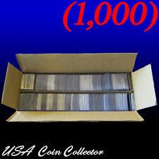 (1000) 2x2 Double Pocket Vinyl Coin Flips for Storage - Plastic Holders | Bulk