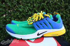 NIKE AIR PRESTO ESSENTIAL SZ 9 LUCKY LUCID GREEN HYPER COBALT BLACK 848187 300