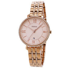 Fossil Jacqueline ES3546 SS All Rose Gold Crystal Accent Quartz Womens Watch