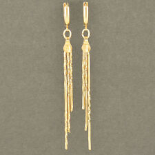 Womens Fashion lucky Jewelry 9K Gold Filled Tassels Drop Dangle Earring Hot