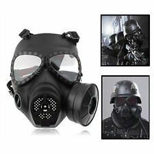 Airsoft Paintball Filter Schutzmaske Gasmaske MA-27 Dummy Gas Turbo Fan Mask #GY