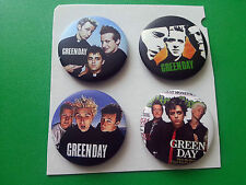 PACK OF 4 PUNK ROCK MUSIC BUTTON / PIN BADGES:- GREEN DAY (a)