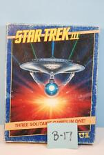 Star Trek III Three Solitare Games in One - West End Games 1985 Unpunched