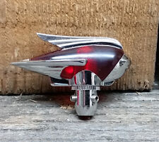 CHROME RED ANTENNA TOPPER ART DECO CUSTOM HOT ROD FORD RETRO CLASSIC OLD SCHOOL