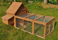 "96"" Wood Hen Chicken Duck poultry Run Hutch House Coop Cage with 6 nesting boxes"
