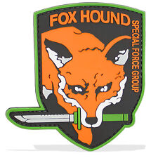 3D PVC Fox Hound Group Military Army Tactical Airsoft Biker Morale Patch Orange