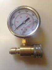 MTM Hydro  3600 psi Pressure Washer Pressure Gauge Kit w/Quick Connect