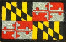 MARYLAND STATE Flag Tactical Patch With VELCRO® Brand Fastener BLACK Border #7