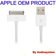 CAVO CAVETTO USB ORIGINALE APPLE PER IPAD 1 2 3 IPOD S SYNC DATI RICARICA BIANC