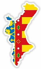 Sticker Comunitat Valenciana the Valencian Community Valencia Spain Map Flag