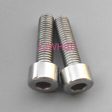 2pcs M8 x 30 Titanium Ti Screw Bolt Allen hex Socket Cap head / Aerospace Grade